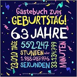 Gästebuch Zum Geburtstag 63 Jahre Deko Zur Feier Vom 63