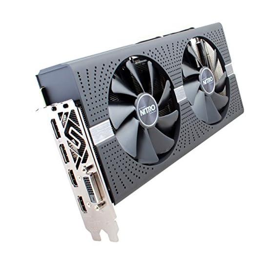 Sapphire 11265-07-20G Radeon Nitro+ Rx 580 4GB GDDR5 Dual HDMI/ DVI-D/ Dual DP with Backplate (UEFI) PCI-E Graphics Card 51PwBqn5ksL. SS555
