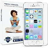 iPhone 5 Glass Screen Protector, Tech Armor AntiGlare Ballistic Glass Apple iPhone 5C/5S/5/SE Screen Protector [1-Pack]