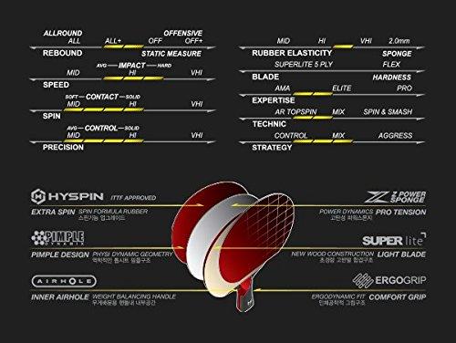 Xiom M5.5S Table Tennis Paddles Shakehand Ping Pong Racket Bats Blades