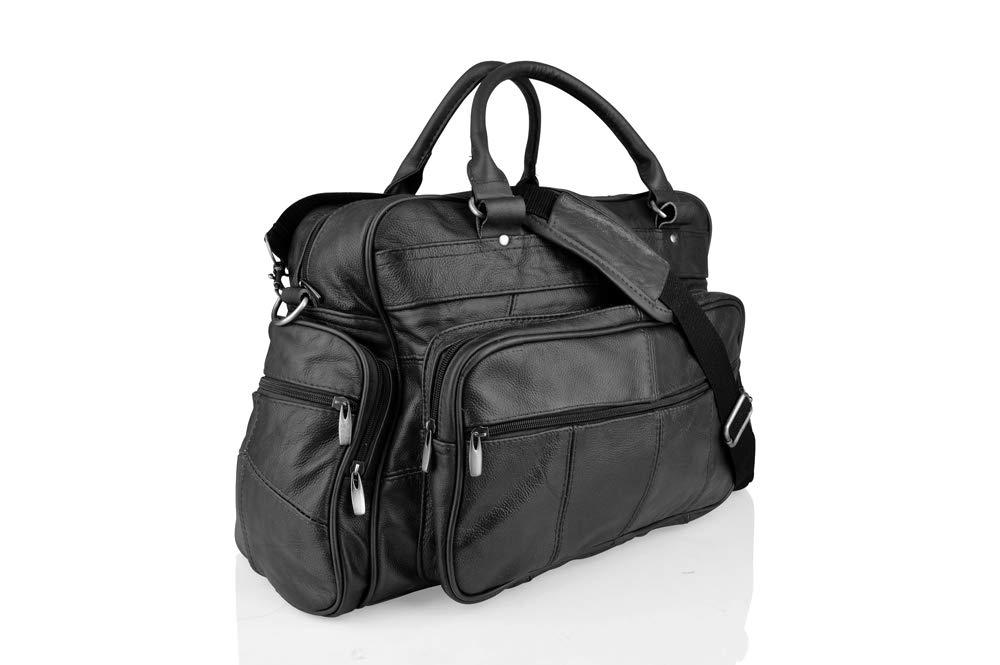 Brown Leather Medium Size Travel Holdall 19.0 Adjustable Removeable Shoulder Strap