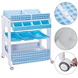 Badger Basket Diaper Corner Changing Table Blue PP+Steel Baby Changing Tables With Ebook