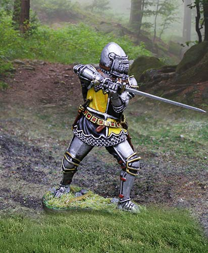 Collectors Showcase Medieval Agincourt Knights CS01019 English Knight with Sword 1:30 Scale Pewter