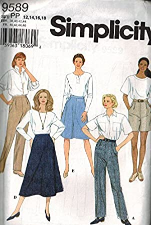 Simplicity 9589 - Patrones de costura para faldas, pantalones y ...