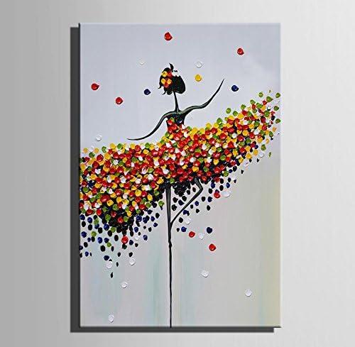 GL&G Art-Flores mujer falda Pintura de carácter moderno pintado al ...