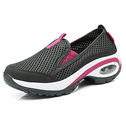 Wearable Stretchy Women's Leisure Shoes Running Shoes Black Anti Breathability Mountaineer Hiking Slip Sports EBBtwq6