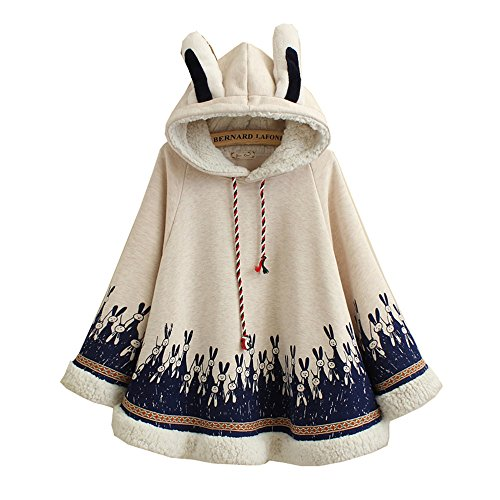 Femme Himifashion Unique Taille Beige Manteau Cape APwEP6