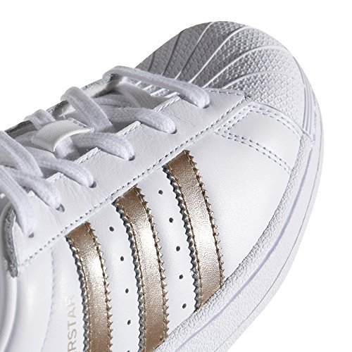 et Chaussures Baskets W Rose Superstar Cyber White Cuir Sneakers Femme Blanc Adidas Metallic 80s YwHAIq6