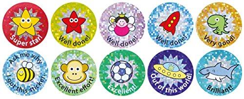 1.1' Inch (28mm) Sparkly Reward Sticker Mixed Pack - 360 Stickers