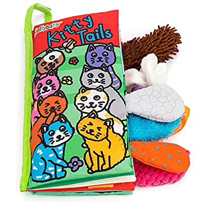 Zocita My First Animals Tails Soft Cloth Book, Baby Crinkle Activity Fabric Books for Toddlers and Kids(Kitty): Toys & Games