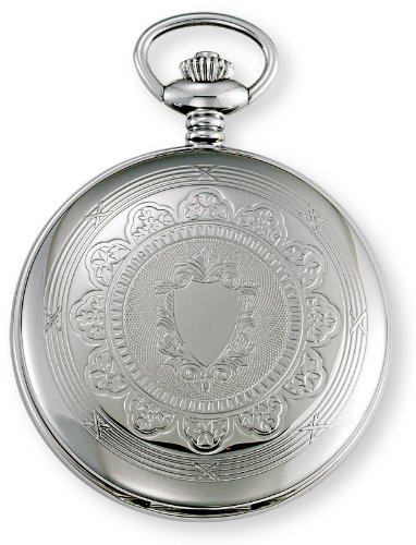 Gotham Men's Silver-Tone Mechanical Pocket Watch with Desktop Stand # GWC18800S-ST by Gotham (Image #2)