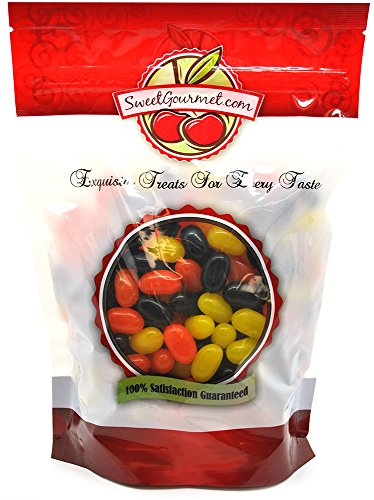 Sweet Candy Fall Jelly Beans - Orange, Yellow, Black