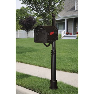 Hummingbird Curbside Mailbox with Ashland Mailbox Post Unit by Special Lite Products