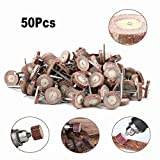 50Pcs 20x4mm Flap Sanding Wheel Sandpaper Grinding Mounted Point Flap Wheel Set for Wood Grinding and Polishing of Concave and Convex Surface and Side 120 Grit