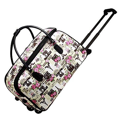 LeahWard Damen Canvas Reisetasche Reisegepäck Tasche mit Rädern 240 (Pferd) Pferd