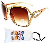 Kd225-VP Kids Children (2~8yr) Oversized Retro Sunglasses (N2574D Crysatal Brown-Brown Smoked, uv400)