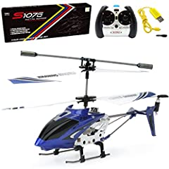 This S107 mini rc helicopter is the world's most durable and stable helicopter.The item comes with thelatest gyro system for precision control. The metal frame has proven to withstand dozens of crashes. The mini helicopter charges directly fr...