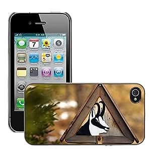 Etui Housse Coque de Protection Cover Rigide pour // M00135452 Gamuza de Animales salvajes de la // Apple iPhone 4 4S 4G