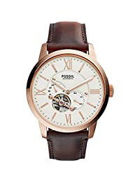 Fossil Townsman Beige Dial Automatic Mens Watch ME3105