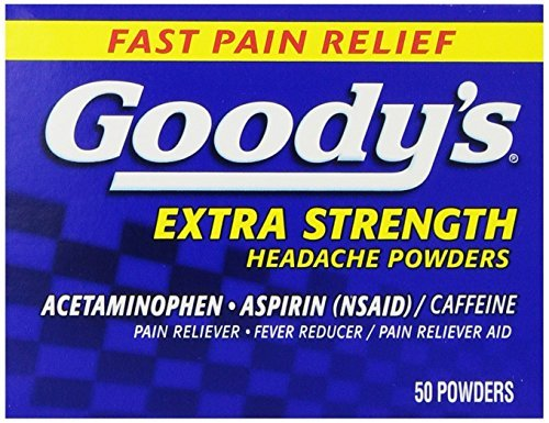 Goody's Pain Reliever Extra Strength Headache Powders, 50 Each (Pack of 2)