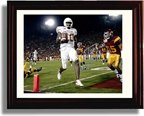 Framed Vince Young Texas