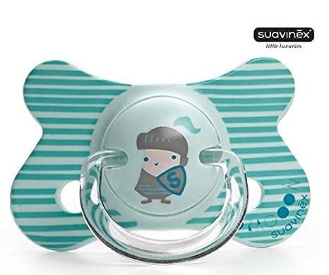 Suavinex Chupete Silicona Chupete fisiológico muñeco 4 m + ...