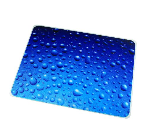 "Colortex Polycarbonate Chair Mat for Carpets/Floors, 48"" x 36"", Drops (FC) - FLOORTEX 229220ECDR"
