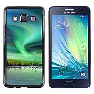 Paccase / SLIM PC / Aliminium Casa Carcasa Funda Case Cover - Nature Beautiful Forrest Green 56 - Samsung Galaxy A3 SM-A300