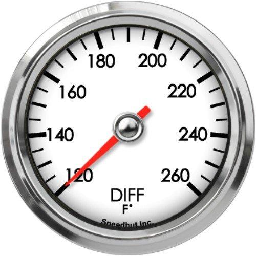 Speedhut GL26-DT01 Diff Temp Gauge 120-260F, 2-5/8'' by SpeedHut