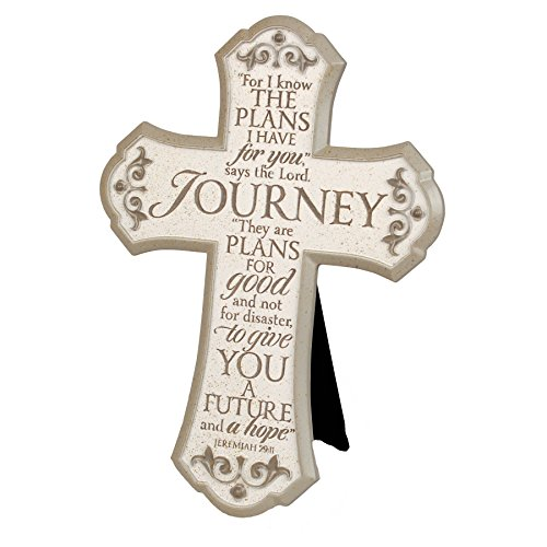 Lighthouse Christian Products Journey with Scrolls Wall/Desktop Cross, 7 1/2 x 10