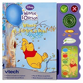 Vtech 80 062645 Jeu Educatif Electronique Magi Livre Interactif Winnie Format Compact