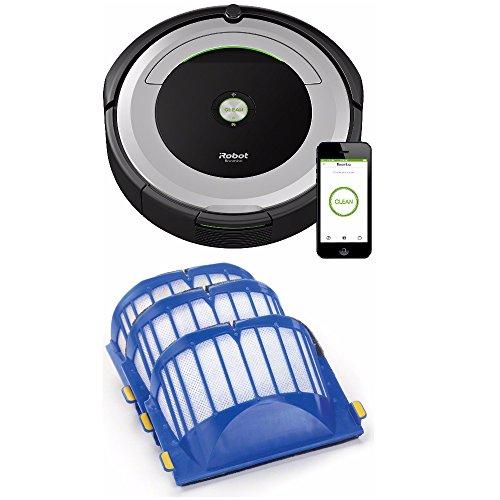 iRobot Roomba 690 Wi-Fi Connected Robotic Vacuum w/ AeroVac Filter (3-Pack)