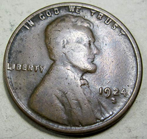 1924 S Lincoln Wheat Cent Fine