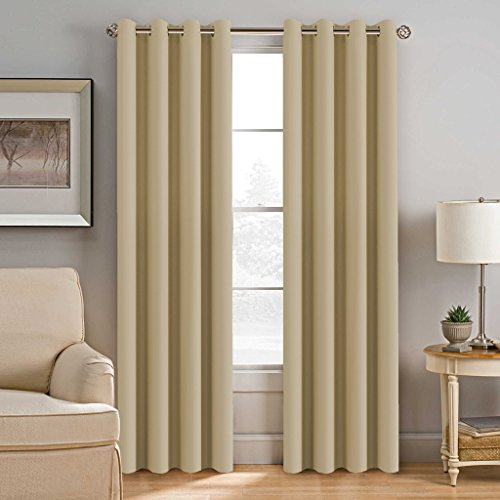 yellow insulated grommet curtains - 3