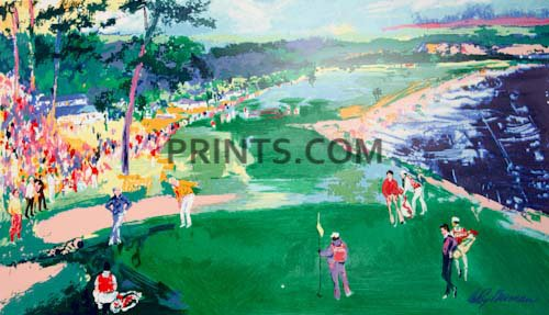 LeRoy Neiman - 18th at Pebble Beach Open Edition Serigraph on Paper