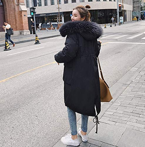 Cappotto Abito Donna Da Imbottito Oversize Lungo Xwh Cotone Nero Cotone Medio Piumino E Invernale In UwS8CSq