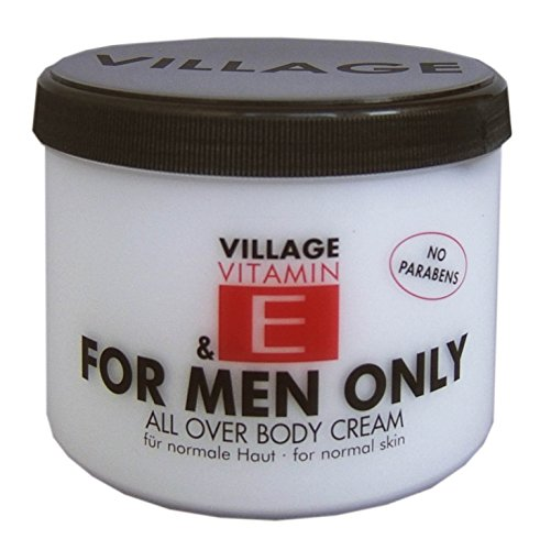 Village For Men Only Body Cream mit Vitamin E, 1er Pack (1 x 500 ml)