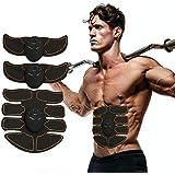 Potente Stimolatore Muscolare, Elettrostimolatore per Addominali Uomo e Donna, Braccia, Gambe,Fascia per Addome Pratico e Leggero