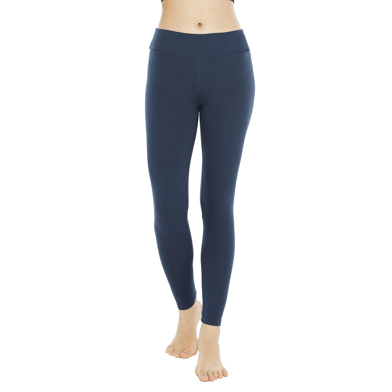 QYQ High Waisted Leggings Soft Slim Pants for Women w Hidden Inner Pocket Reg/&Plus Size 10+Colors