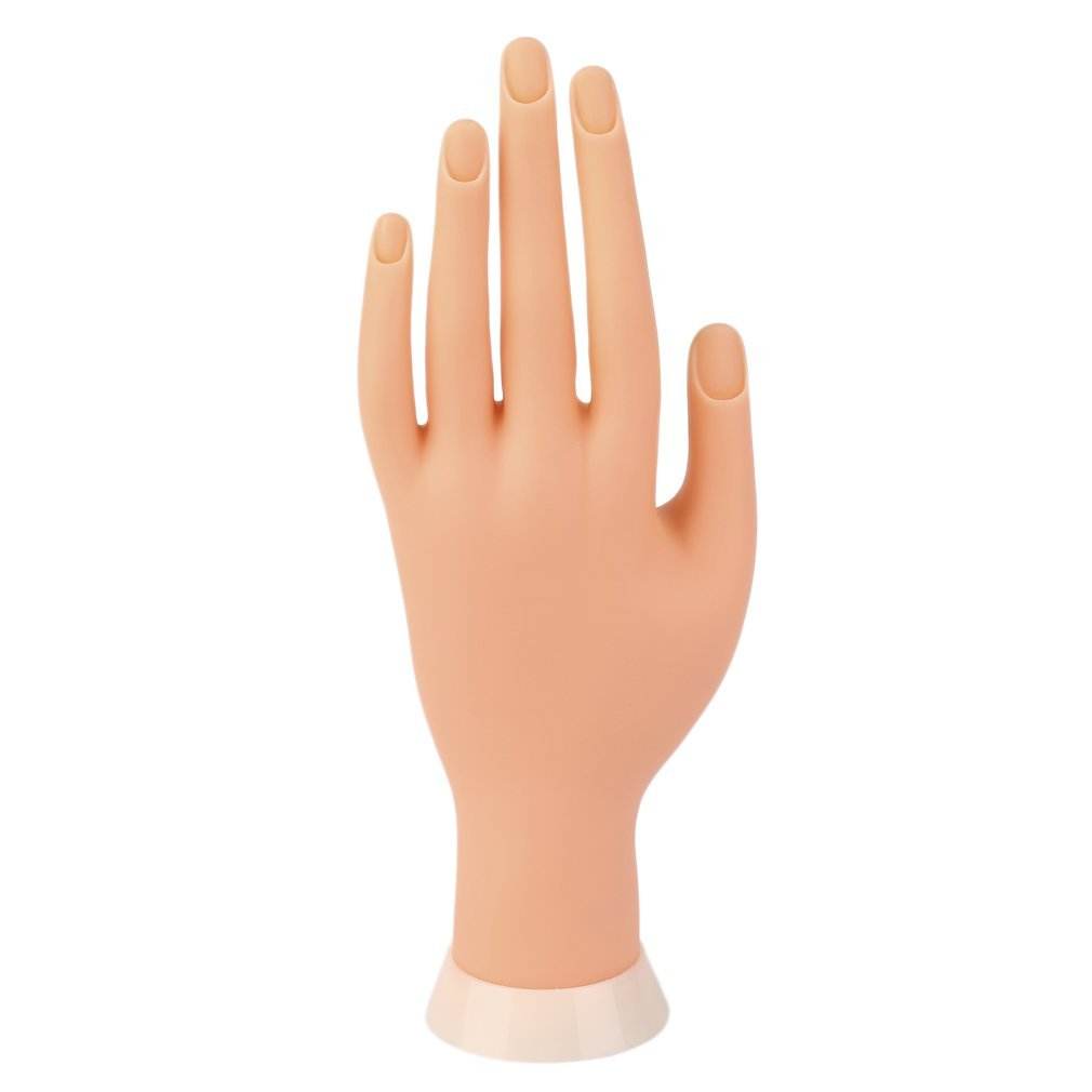 Qulable Practice Left Hand Model for Nail Art Training and Display Manicure Supply