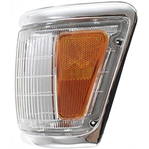 DAT 92-95 TOYOTA PICKUP 4WD CHROME TRIM PARKING LIGHT ASSEMBLY CORNER OF FENDER LEFT DRIVER SIDE TO2520129