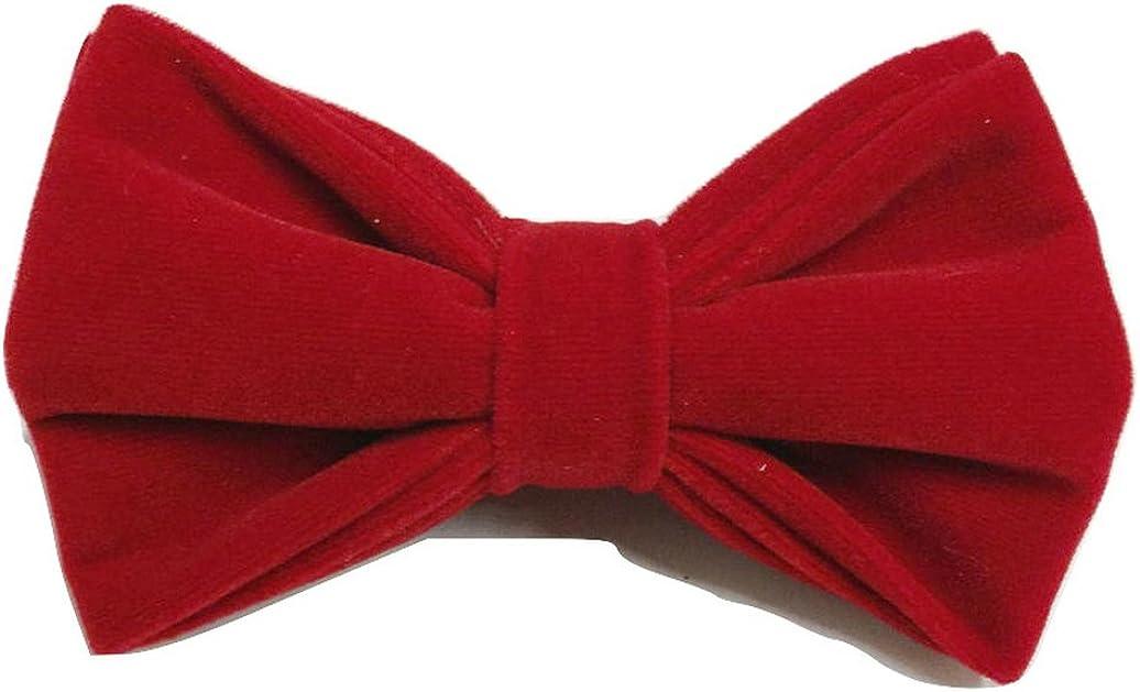 L/&L Mens Classic Velvet Bow Tie Bowtie Double Layers UK