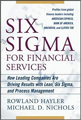 Amazon com: Six Sigma for Financial Services: How Leading