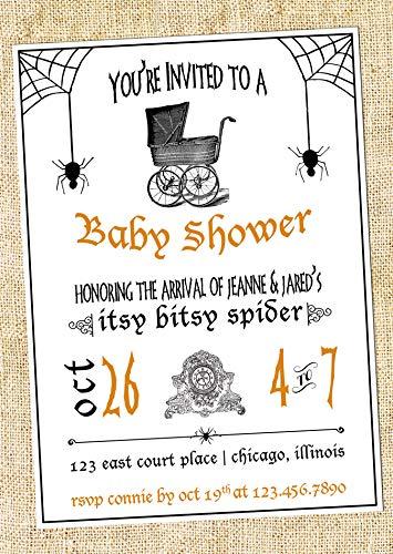 Halloween Baby Shower Invitation {Itsy Bitsy