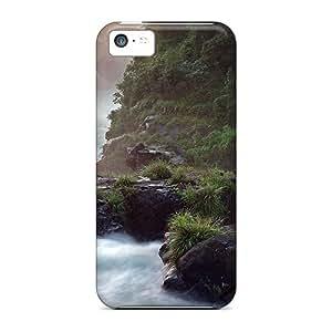 Doris Shop Premium Protective Hard Case For Iphone 5c- Nice Design - Rain Forest Falls