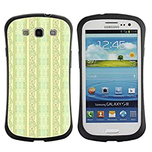 ArtSpace Premium Hybrid Back Case Cover Samsung Galaxy S3 III i9300 ( Green Flowers )