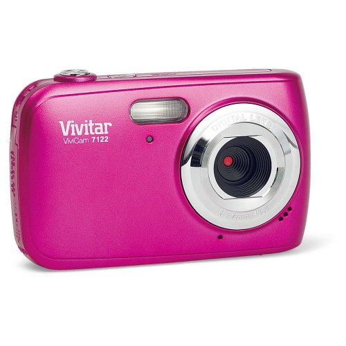 Vivitar 7122PK ViviCam 7 MP Compact System Camera with 1.8-Inch LCD Body (Pink)(Colors May Vary)