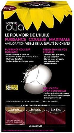 Garnier - Olia - Coloration Permanente à lHuile Sans Ammoniaque Carmin - 6.66 Carmin Eclatant