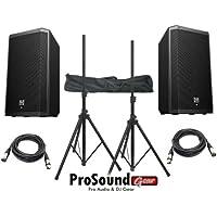 Electro-Voice ZLX-12P 12 2-Way Powered Loudspeaker / (2) Xlr to Xlr Cables 20ft ea / (Pair) Speaker Stand w/ Bag / (ProSoundGear Authorized Seller)