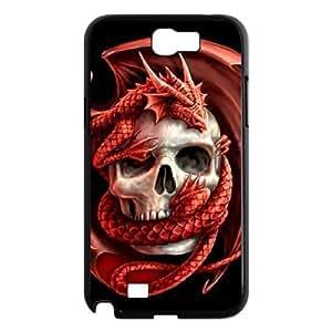 ALICASE Diy Design Back Case Red Dragon for Samsung Galaxy Note 2 N7100 [Pattern-1]